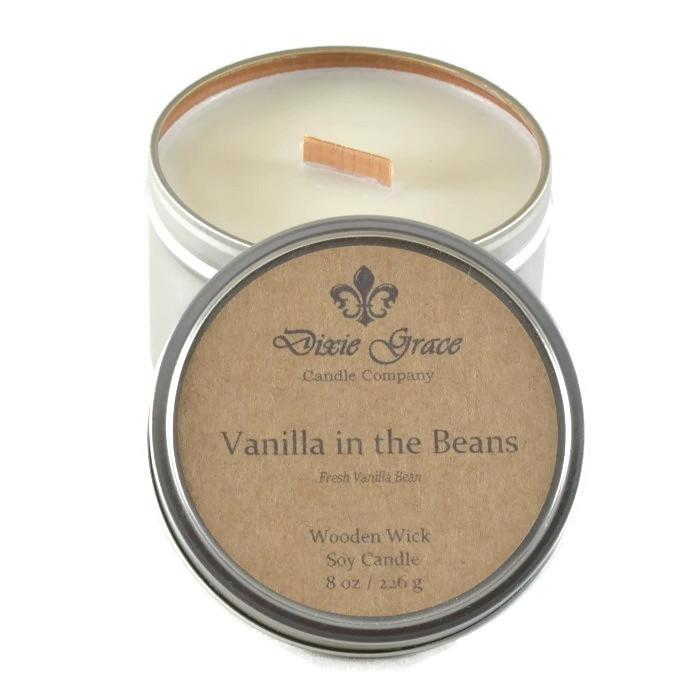 Dixie Grace 8 oz. Tin Candles