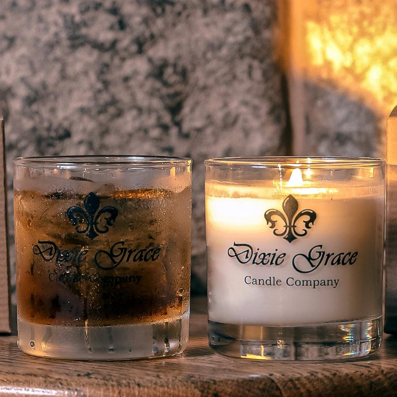 We Say Grace Glass Candle