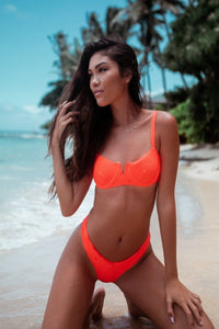 Ella Top Orange - Escape Swimwear