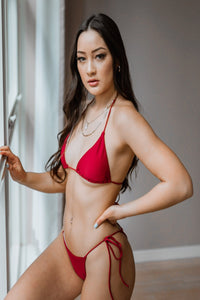 Azalea Top Red - Escape Swimwear