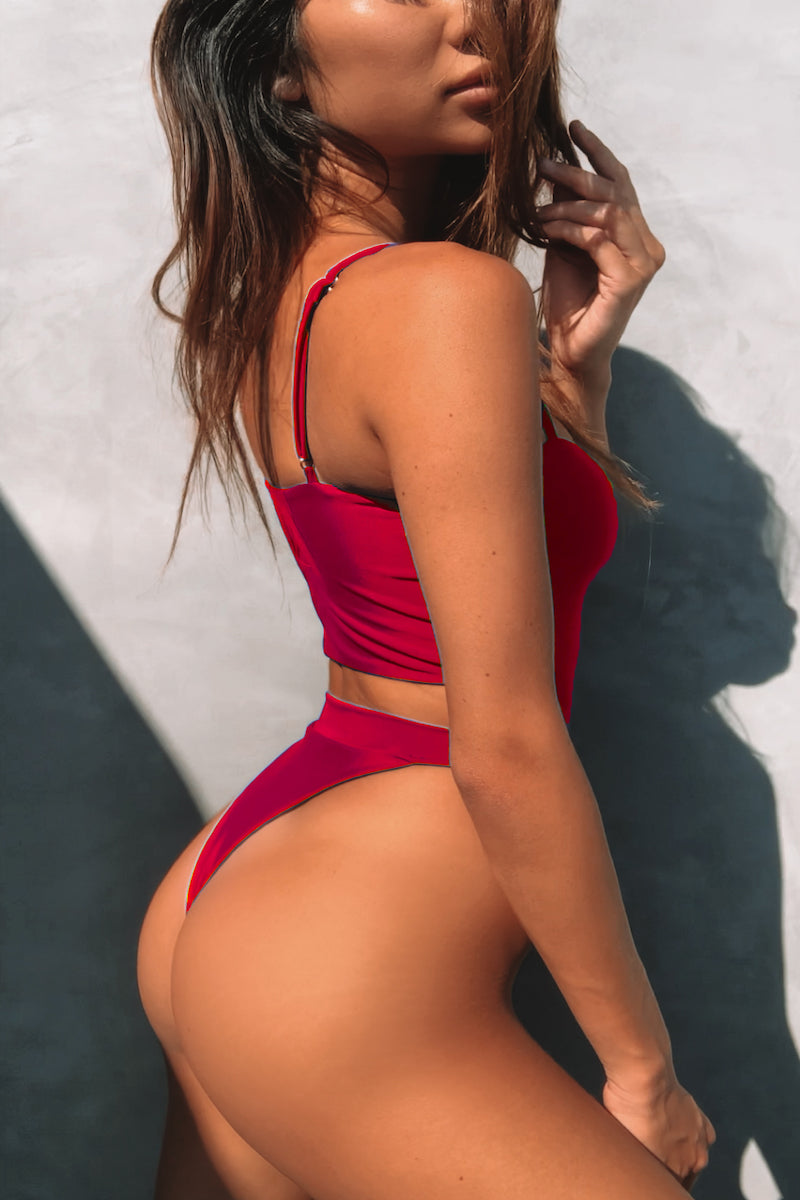Bianca One Piece Red - Escape Swimwear