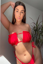Load image into Gallery viewer, Julie Top Red - Escape Swimwear