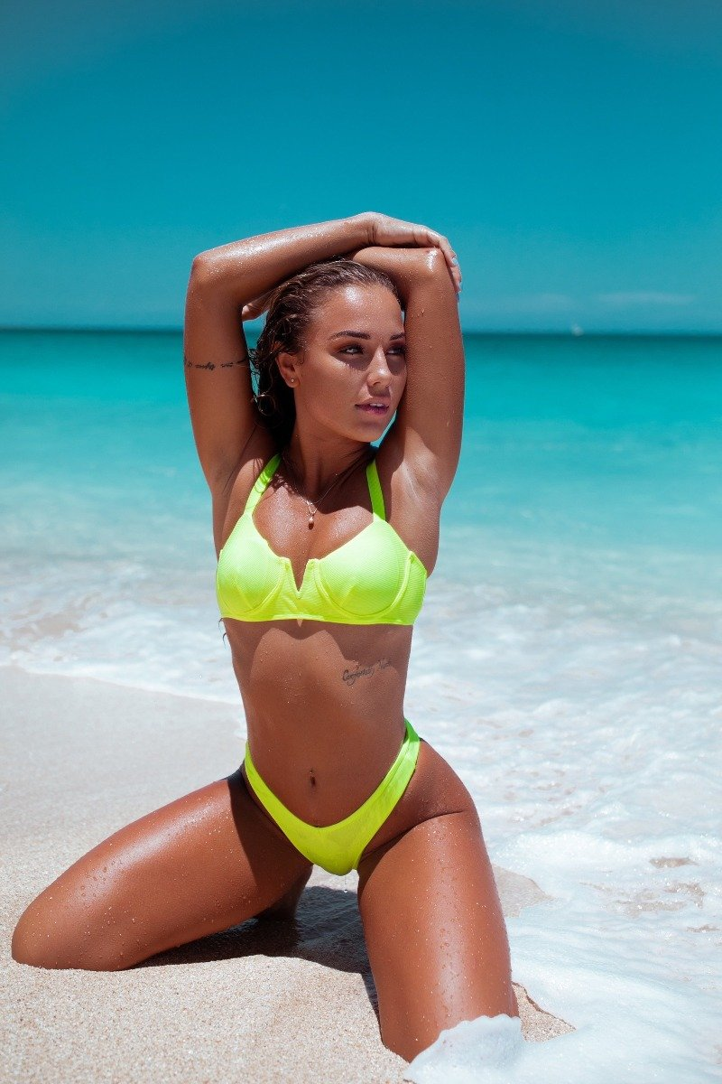 Ella Bottoms Lime - Escape Swimwear