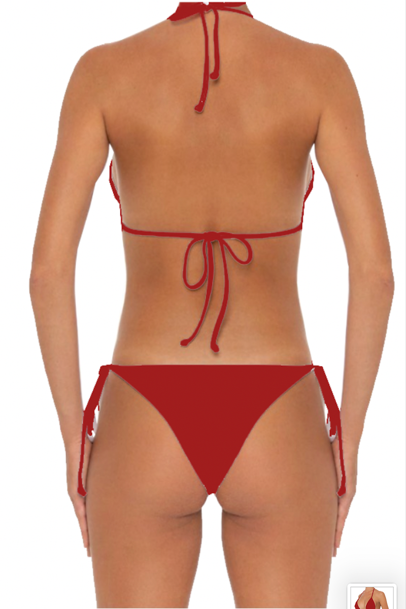 Azalea Bottoms Red - Escape Swimwear