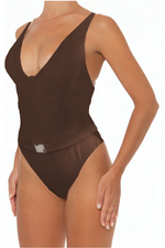 Load image into Gallery viewer, Astrid One Piece Brown - Escape Swimwear