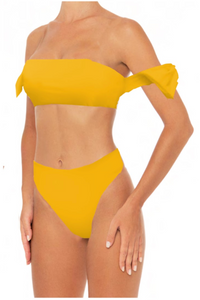Rachel Top Lemon - Escape Swimwear