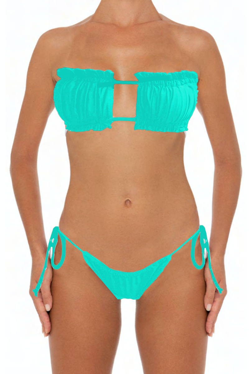 Julie Top Blue - Escape Swimwear