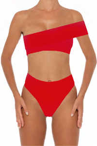 Kimmy Bottoms Red - Escape Swimwear