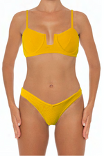 Load image into Gallery viewer, Eva Top Yellow - Escape Swimwear