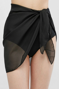 Sheer Skirt Cover Up Black - Escape Swimwear