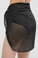 Load image into Gallery viewer, Sheer Skirt Cover Up Black - Escape Swimwear