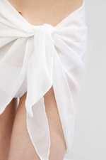Load image into Gallery viewer, Sheer Skirt Cover Up White - Escape Swimwear