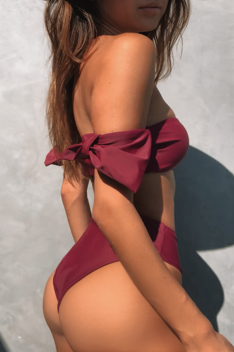 Rachel Set Wine - Escape Swimwear