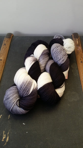 Merino/nylon sock yarn suitable for socks and any other soft projects.