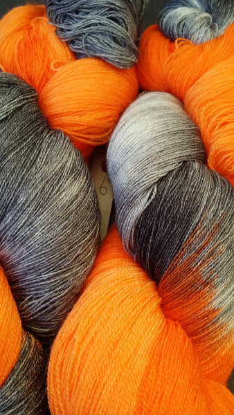 An extremely soft and luxurious merino and silk lace skein.