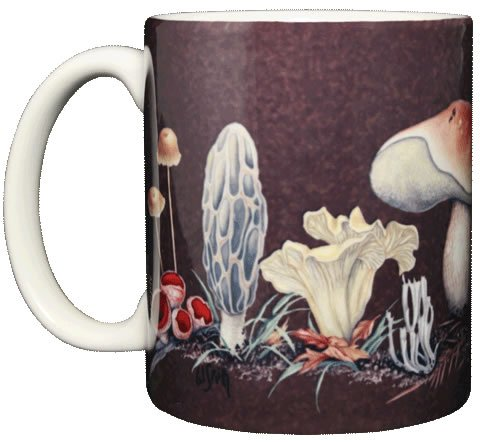 Mushroom 11 Oz. Ceramic Coffee Mug Tea Cup