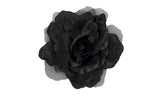 "Artificial Flower for Millinery Chiffon Satin Rose 6"" Diameter - Humboldt Haberdashery"
