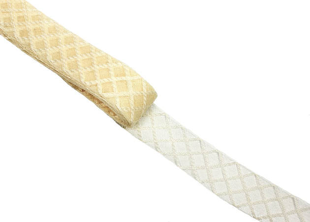 Crinoline Horsehair Braid - Diamond Pattern - Sold by the Yard - Humboldt Haberdashery