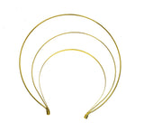 Crown Style Tall Triple Band Metal Headband - Humboldt Haberdashery
