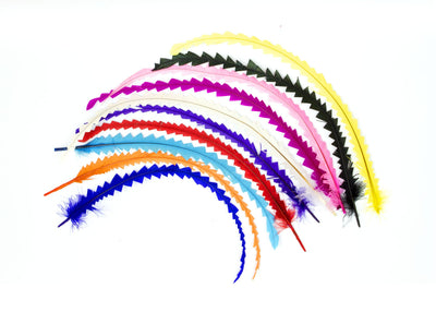 "Cut Rooster Coque Feathers - 6 Pieces Measuring 10"" - 12"" Long - Humboldt Haberdashery"