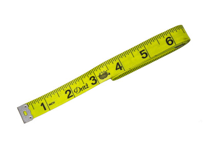"Dritz Vinyl Measuring Tape 60"" Yellow Soft, Flexible - Humboldt Haberdashery"