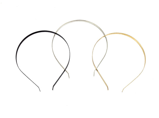 Flat Band Metal Headbands 7 mm Wide - 10 Pieces - Humboldt Haberdashery