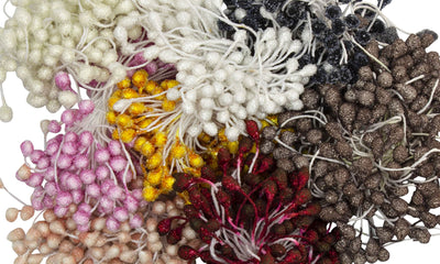 Flower Stamens for Artificial Flower Making Crystal Texture 122 Pieces - Humboldt Haberdashery