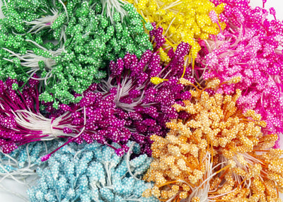 Flower Stamens for Artificial Flower Making Dot Texture 300 Pieces - Humboldt Haberdashery