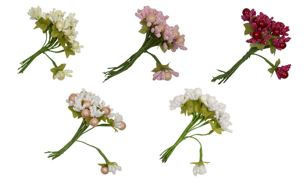 Flower Stamens for Artificial Flower Making Pearls & Textured Stamens 10 Pieces - Humboldt Haberdashery