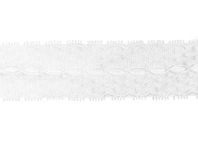 "Vintage Lace Trim White Lace with Dots and Open Center 1 1/4"" - Sold by the Yard"