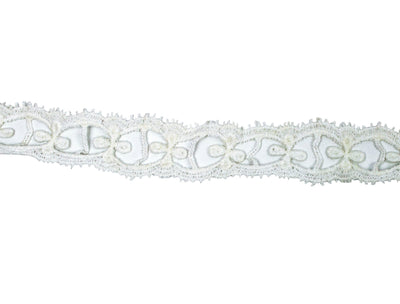 "Vintage Trim White Open Crochet Lace 1 1/4"" Wide - Sold by the Yard"