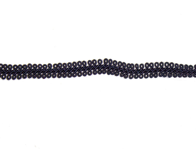 "Vintage Gimp Trim Navy Fine 3/8"" - Sold by the Yard"