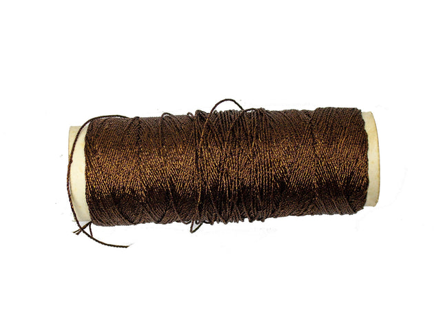 Vintage Trim Metallic Brown Thread - One Roll