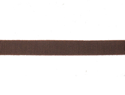 Vintage Ribbon Petersham 50/50 Cotton Rayon 23 mm Wide - Brown - Sold by the Yard