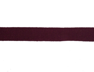 Vintage Ribbon Petersham 50/50 Cotton Rayon 23 mm Wide - Maroon - Sold by the Yard