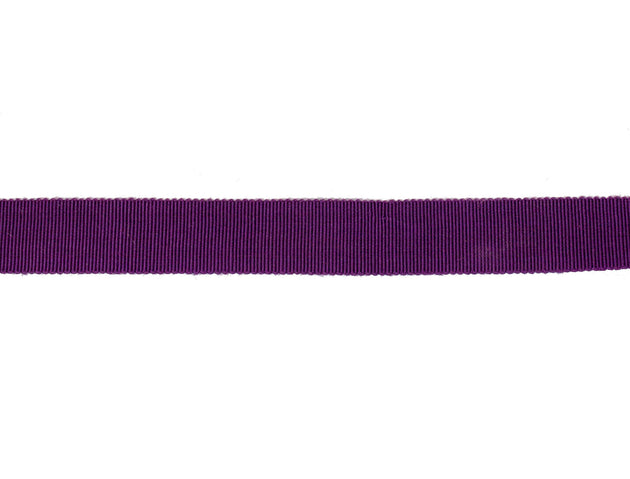 Vintage Ribbon  Petersham 50/50 Cotton Rayon 18 mm Wide - Purple - Sold by the Yard