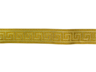"Vintage Trim Metallic Gold Patterned Ribbon 1 1/8"" - Sold by the Yard"
