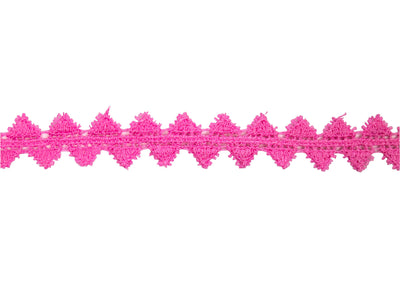 "Vintage Trim Pink Triangle Crochet Trim 5/8"" - Sold by the Yard"