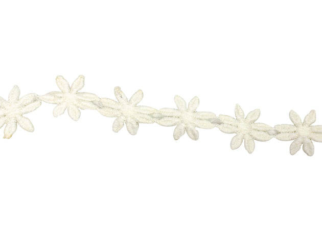 "Vintage Trim Ivory Daisy Flower Trim 7/8"" - Sold by the Yard"