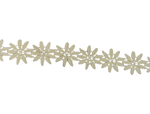 "Vintage Trim Ivory Daisy Chain 1 1/4"" Wide - Sold by the Yard"