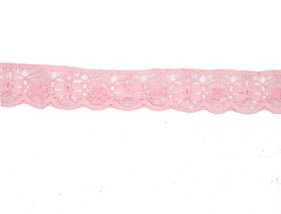 "Vintage Trim Light Pink Crochet Lace 1"" Wide - Sold by the Yard"