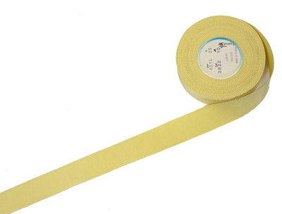 Vintage Ribbon Petersham Cotton Viscose 25 mm Wide - Light Yellow - Sold by the Yard