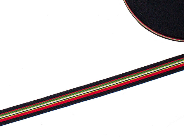 Vintage Grosgrain Ribbon Acetate 18 mm Wide - Black Stripe - Sold by the Yard