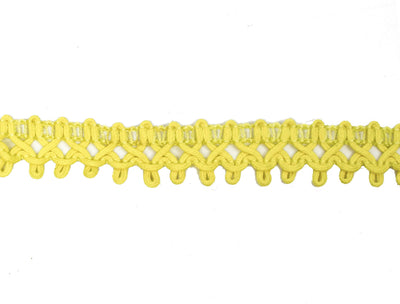 "Vintage Gimp Trim Yellow Braid 3/4"" Wide - One Piece 3 Yards Long"
