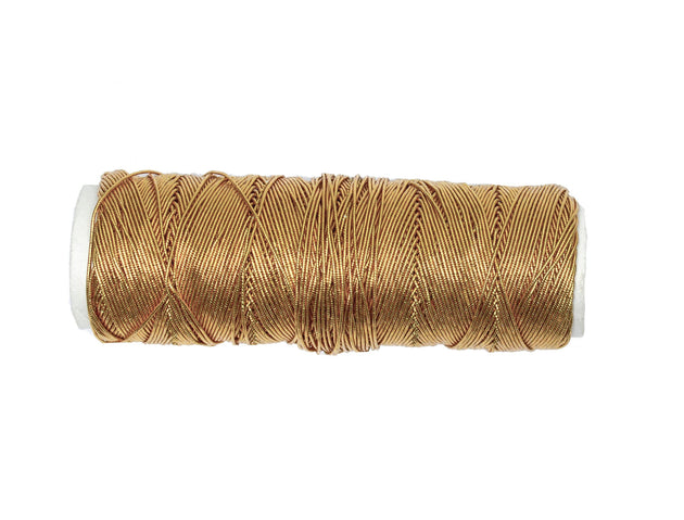 Vintage Trim Metallic Gold Elastic Thread - One Roll