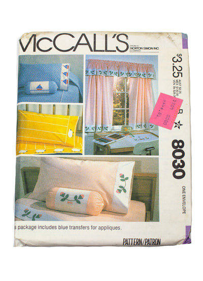 McCall's 8030 Bedroom Package Uncut - Youth and Twin Size Beds