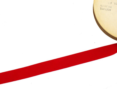 Vintage Ribbon Petersham Acetate 25 mm Wide - Red - Sold by the Yard