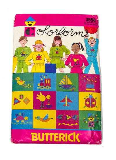 Butterick Colorforms 3556 Kids Top, Skirt, Pants Uncut - Sizes Kids 2-6