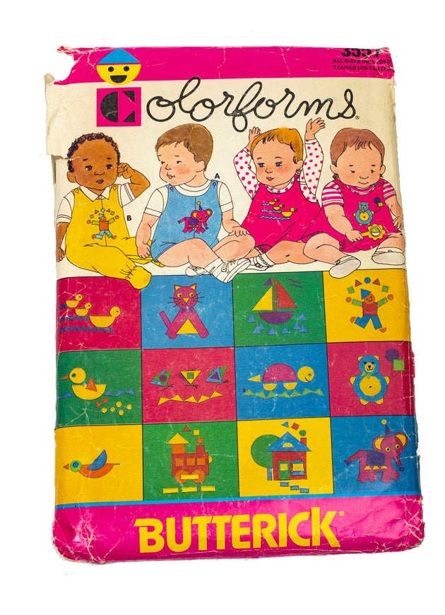 Butterick Colorforms 3557 Infant Jumpers, Overalls, Panties Uncut - Sizes S - XL