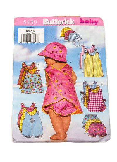 Butterick 5439 Infant Romper, Jumper, Panties & Hat Uncut - Sizes NB - M
